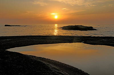 Poster featuring the photograph November Sunrise II - Lake Superior by Sandra Updyke