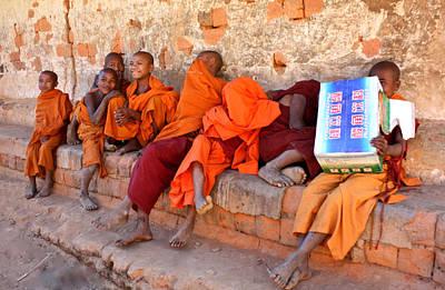 Novice Buddhist Monks Poster