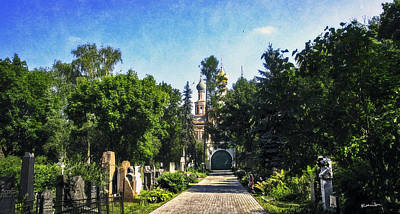 Novodevichy Cemetery 2 - Moscow - Russia Poster by Madeline Ellis