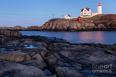 Nubble Light Along Maine's Rugged Coast York Beach Maine Poster by Dawna  Moore Photography