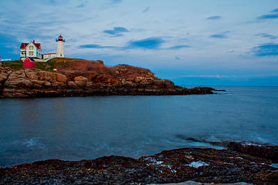 Nubble Light At Cape Neddick Maine Poster by John McGraw