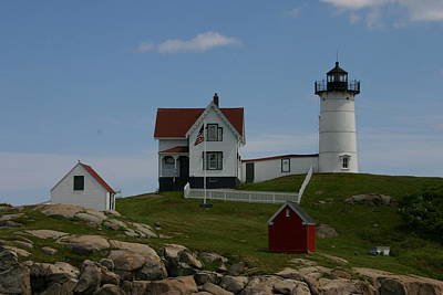 Poster featuring the photograph Nubble Light House York Maine by Denyse Duhaime
