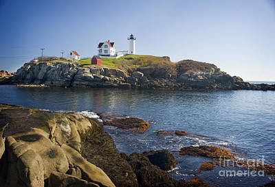 Nubble Light Poster by Jim  Calarese