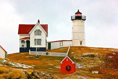 Poster featuring the photograph Nubble Lighthouse by Amazing Jules