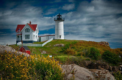 Nubble Lighthouse Poster by Fred LeBlanc