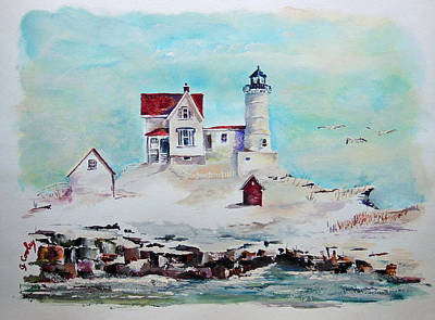 Nubble Lighthouse Poster by Gerald Cooley