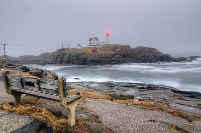 Nubble Lighthouse View Poster