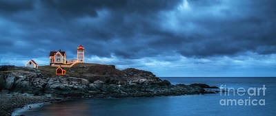 Nubble Lighthouse Before The Storm Poster by Scott Thorp