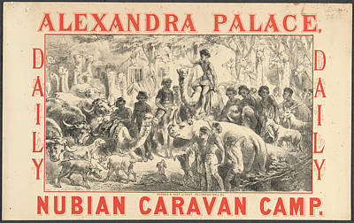 Nubian Caravan Camp Poster by British Library