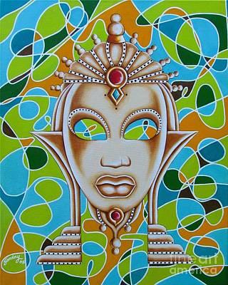 Nubian Modern Ivory Mask  Poster