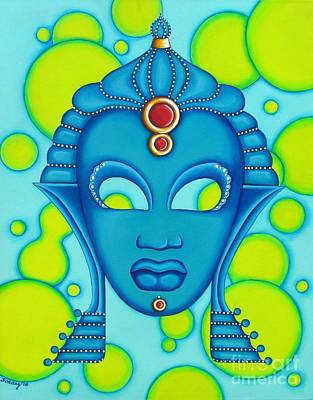 Nubian Modern Mask Blue Poster
