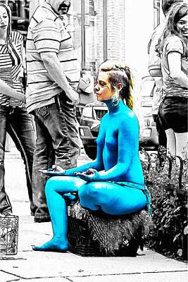 Nude A La Smurf Poster by John Haldane