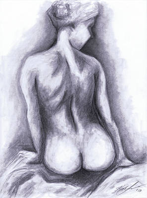 Nude Drawing 01 Poster
