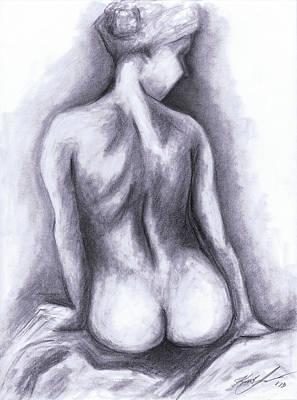 Nude Drawing 01 Poster by Kamil Swiatek