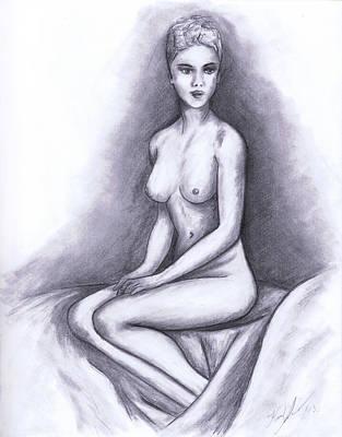 Nude Drawing 02 Poster by Kamil Swiatek