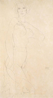 Nude Girl Poster by Egon Schiele