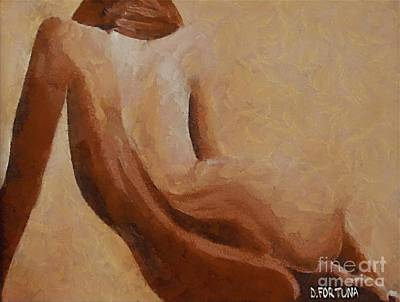Poster featuring the painting Nude II by Dragica  Micki Fortuna