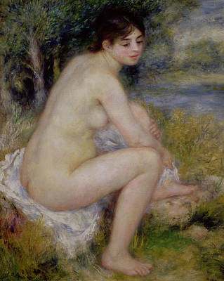 Nude In A Landscape Poster