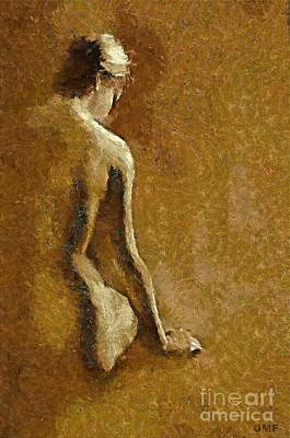 Nude In Sepia Poster by Dragica  Micki Fortuna