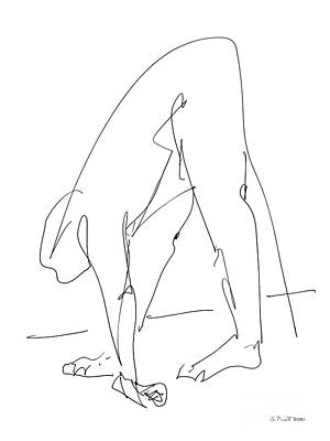 Nude Male Drawings 32 Poster by Gordon Punt