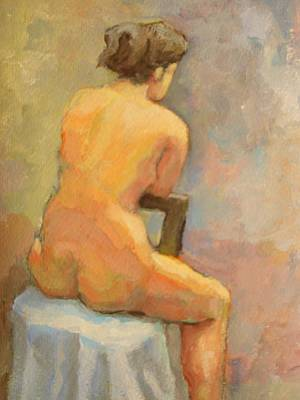 Nude Painting  4 Poster by Alfons Niex