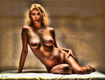 Poster featuring the painting Nude Reclining by Tyler Robbins