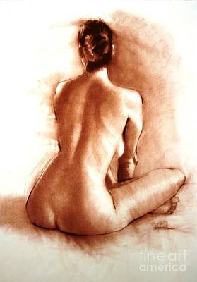 Nude Sitting Back Poster by Doyle Shaw