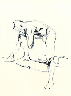 Nude Sketch Poster by Konstantin Boreo