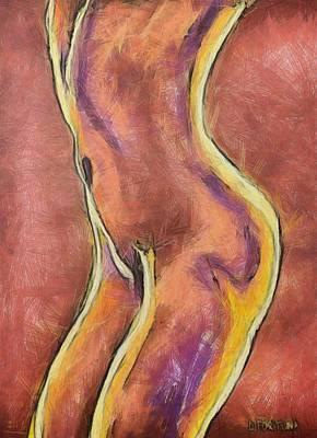 Poster featuring the drawing Nude Vi by Dragica  Micki Fortuna