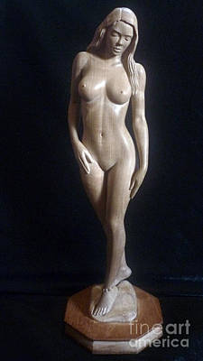 Nude Woman - Wood Sculpture Poster