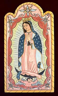 Nuestra Senora De Guadalupe Poster by Ellen Chavez de Leitner