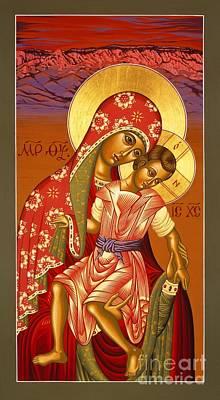 Poster featuring the painting Nuestra Senora De Las Sandias 008 by William Hart McNichols