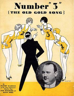 Number 3 The Old Gold Song Poster by Mel Thompson