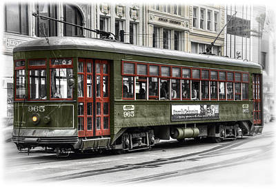 Number 965 Trolley Poster by Tammy Wetzel