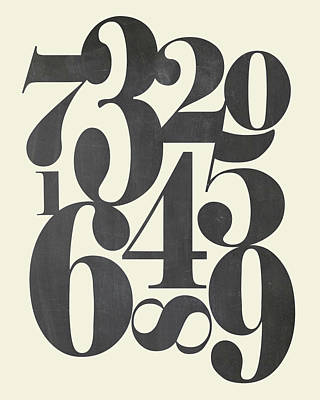 Numbers Cream Poster by Amy Cummings