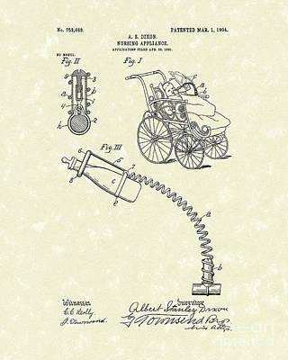 Nursing Aid 1904 Patent Art Poster