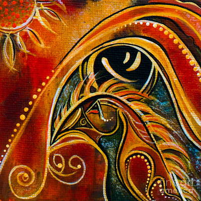 Nurturer Spirit Eye Poster by Deborha Kerr