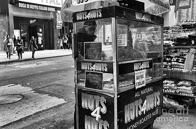 Nuts 4 Nuts In Nyc Mono Poster by John Rizzuto