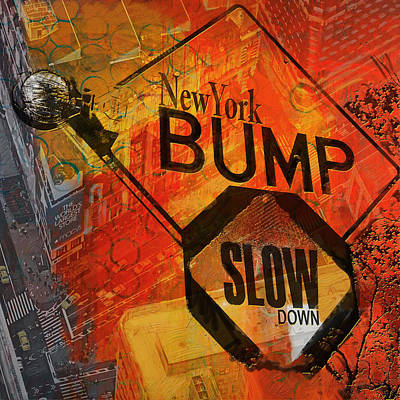 Ny - Traffic Sign Poster by Corporate Art Task Force