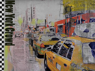 Ny City Collage 2 Poster by Corporate Art Task Force