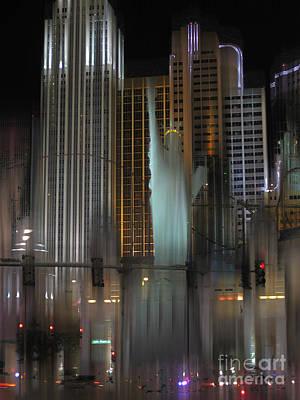 Ny Ny Las Vegas Surreal Poster