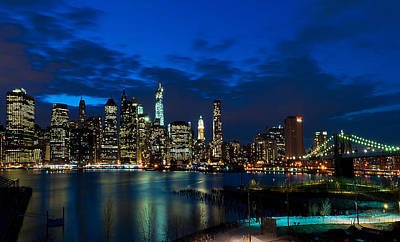 Ny Skyline From Brooklyn Heights Promenade Poster