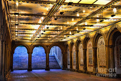 Nyc Bethesda Terrace Poster by Paul Ward
