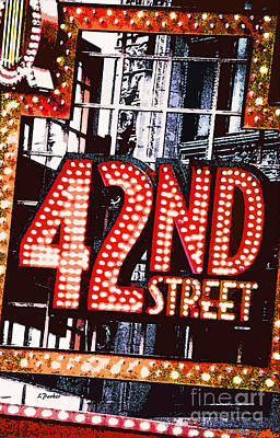 Nyc-broadway Lights Poster