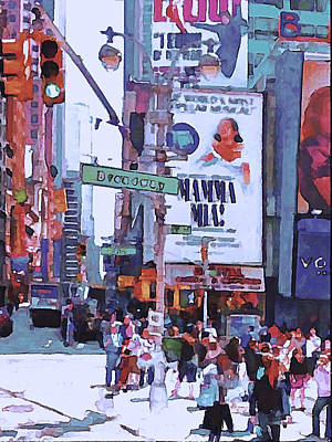 Nyc Broadway Poster by Yury Malkov