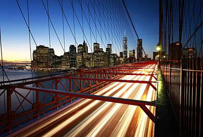 Nyc Brooklyn Bridge Poster by Nina Papiorek