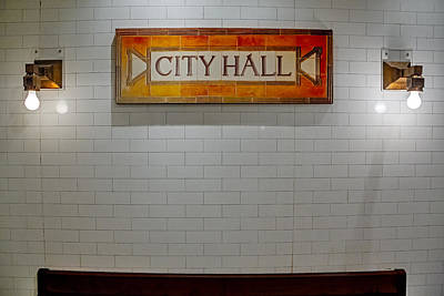 Nyc City Hall Subway Station Poster by Susan Candelario