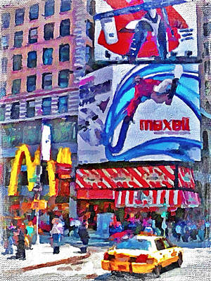 Nyc Downtown 4 Poster by Yury Malkov