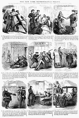 Nyc Police, 1859 Poster