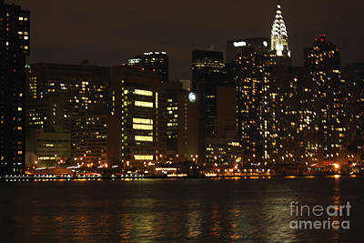 Nyc Skyline From The Water Poster